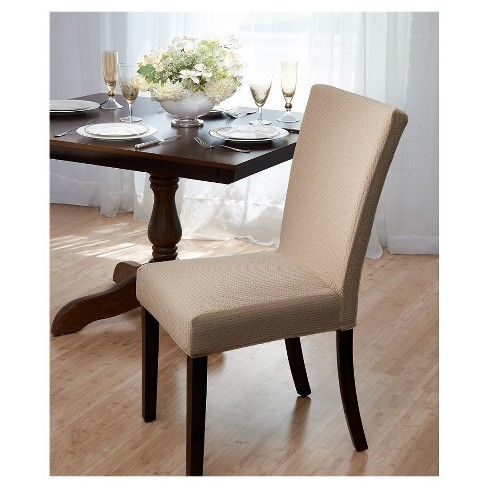 Subway Dining Room Chair Cover Beige - Madison
