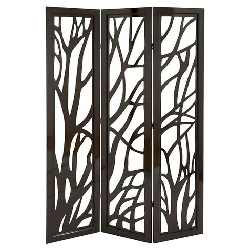 Panel Screen in Slick Brown Finish & Lightweight - Set of 3 - image 1 of 1