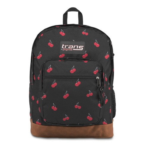 """Trans by JanSport 17"""" Super Cool Backpack - Black/Cherry Print - image 1 of 4"""