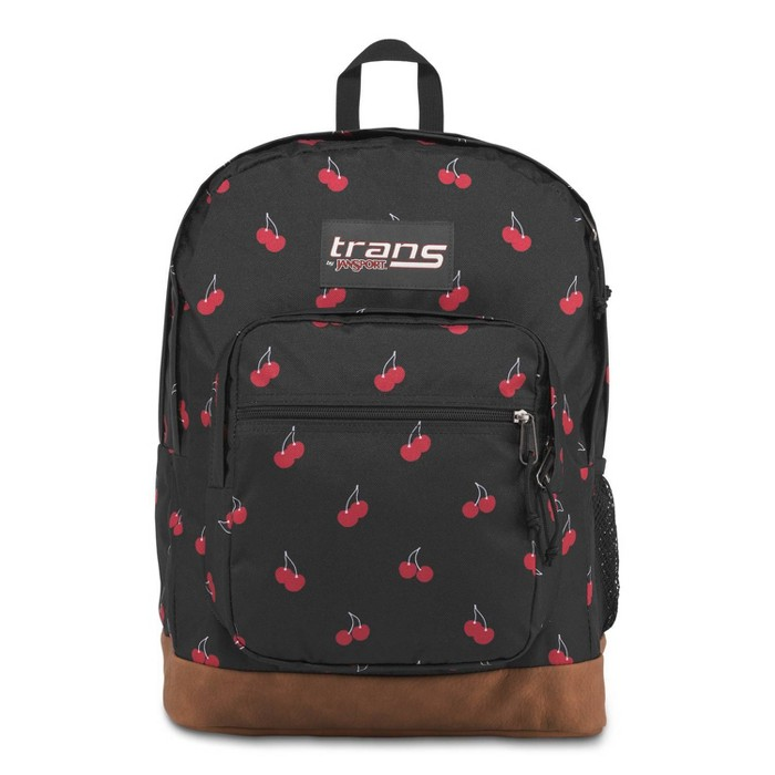 "Trans by JanSport 17"" Super Cool Backpack - Black/Cherry Print - image 1 of 5"