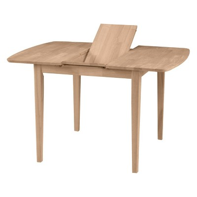 """30"""" Extendable Dining Table with Butterflyand Shaker Styled Legs Unfinished - International Concepts"""