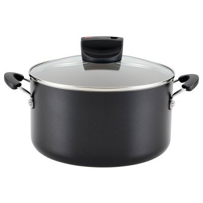 Farberware Smart Control 6qt Aluminum Covered Stock Pot Black