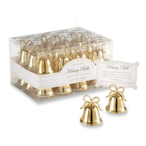 24ct Gold Kissing Bells Place Card/Photo Holder - image 1 of 3