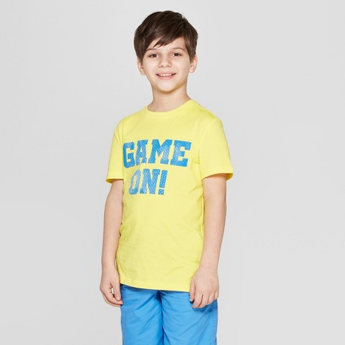 Boys' Game On Short Sleeve Graphic T-Shirt - Cat & Jack™ Yellow - image 1 of 4