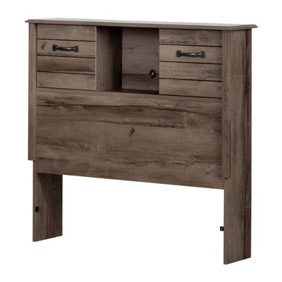 Ulysses Bookcase Headboard with Doors - South Shore