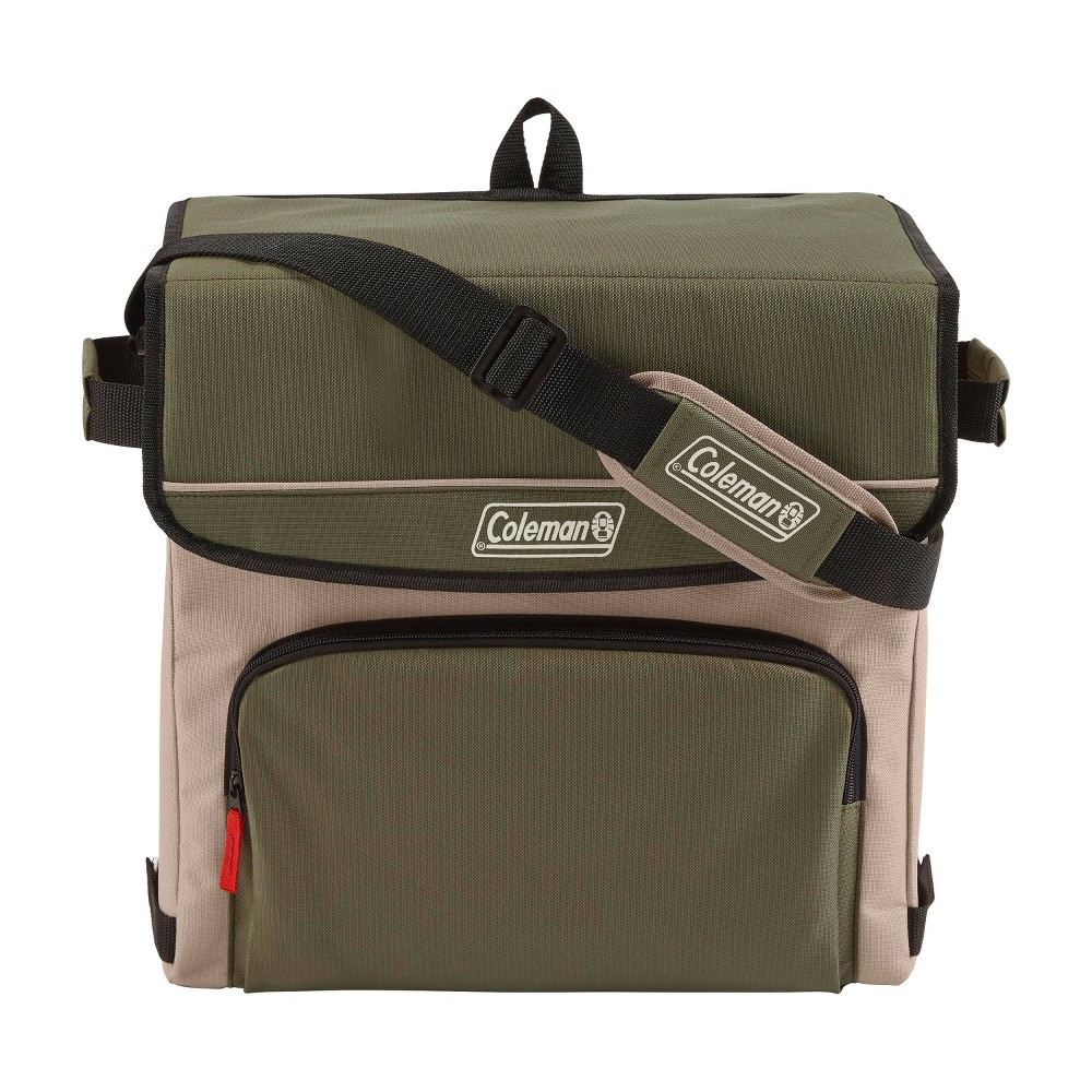 Image of Coleman 54 Can Collapsible Soft-Sided Cooler Bag - Olive