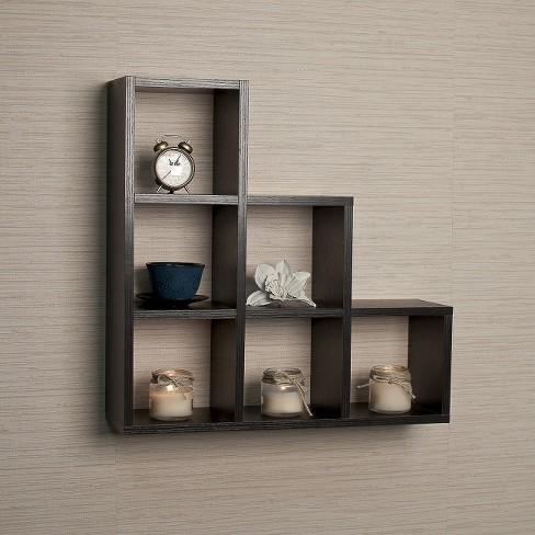 Stepped Six Cube Decorative Wall Shelf Target