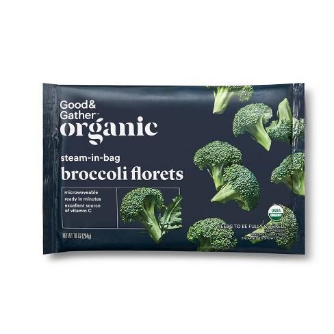 Organic Frozen Broccoli Florets - 10oz - Good & Gather™ - image 1 of 2