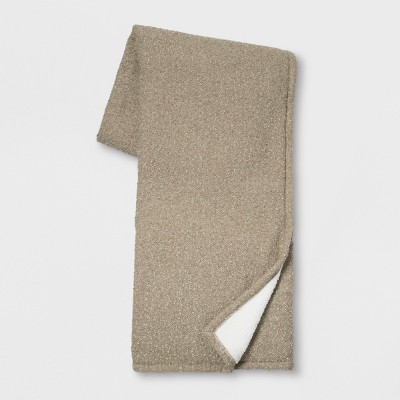 60 x50  Solid Boucle Throw Blanket Neutral - Threshold™