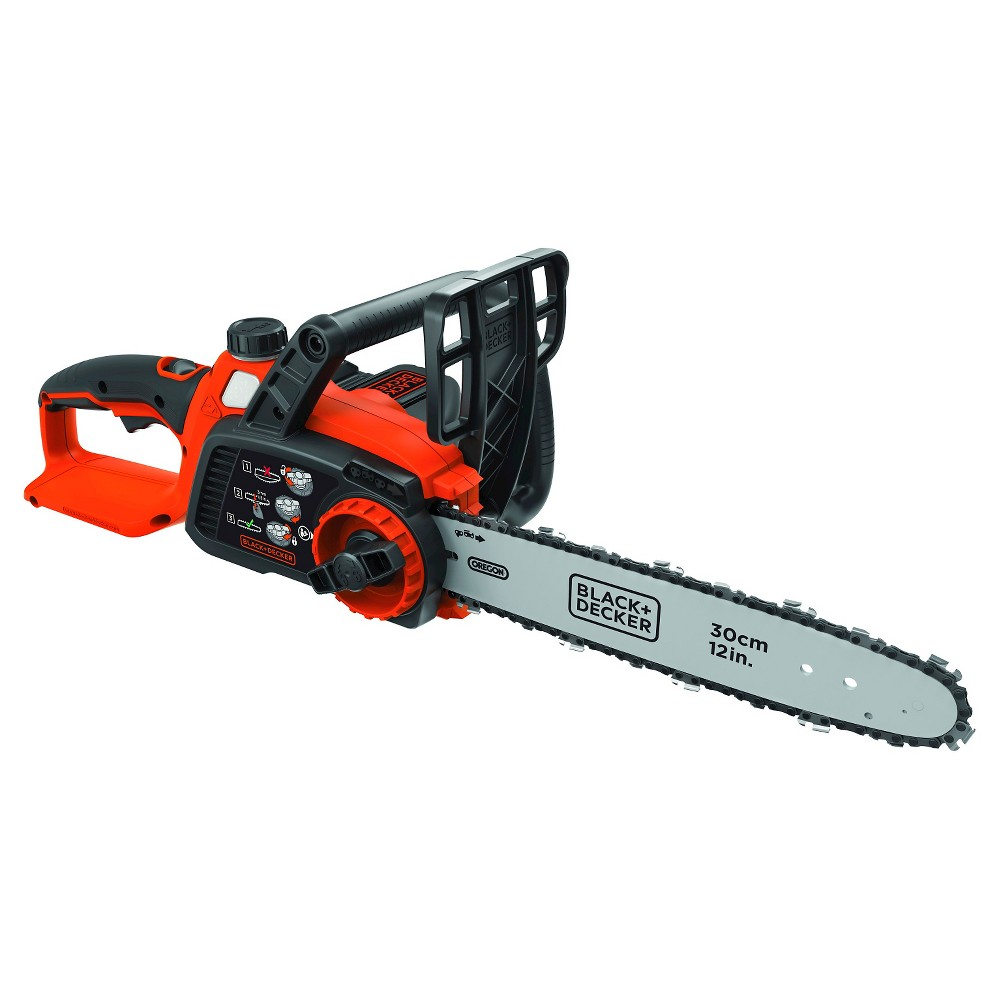 "Image of ""BLACK+DECKER 40V MAX Lithium Chainsaw with 12"""" Oregon Bar and Chain and Tool Free Tensioning - Orange Sorbet"""