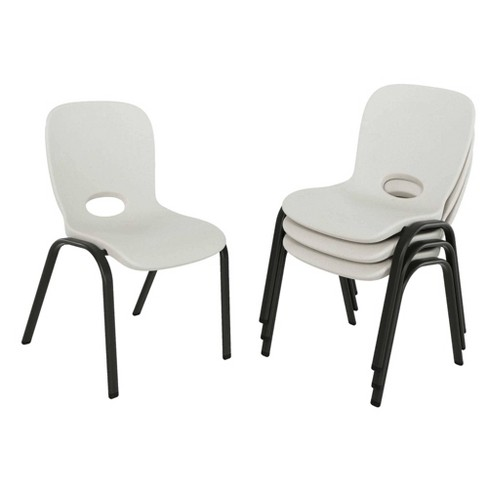 Stacking Chair Almond Brown