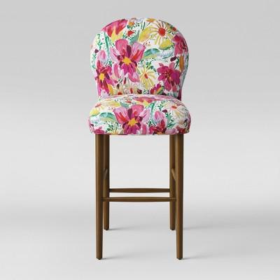 Caracara 32  Rounded Back Barstool Bright Floral - Opalhouse™