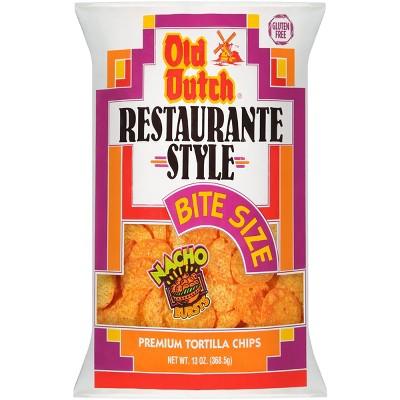 Old Dutch Restaurante Bite Size Nacho Tortilla Chips - 13oz