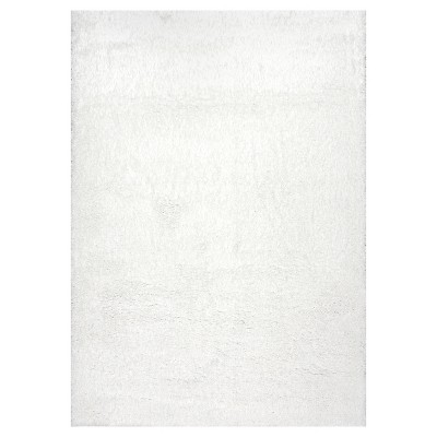 White Solid Loomed Area Rug - (8'x10')- nuLOOM