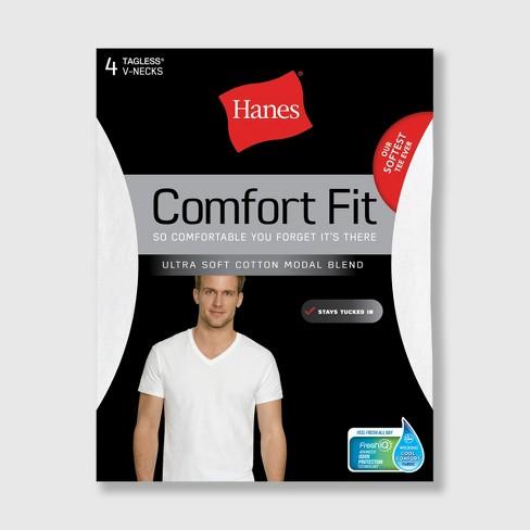 da1b5790d129 Hanes Men's 4pk Comfort Fit V-Neck T-Shirt - White : Target