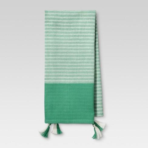 Mint Stripe Kitchen Towel Threshold