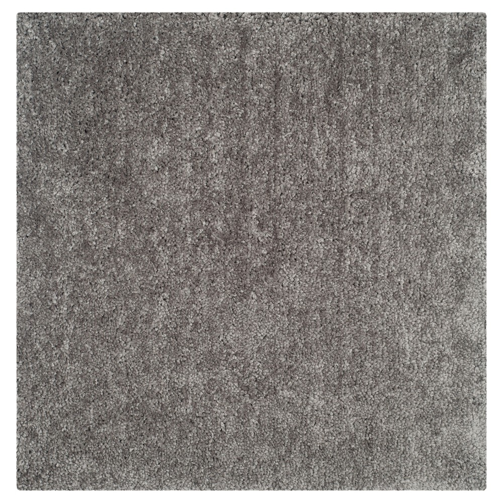 Silver Solid Tufted Square Area Rug - (6'X6') - Safavieh