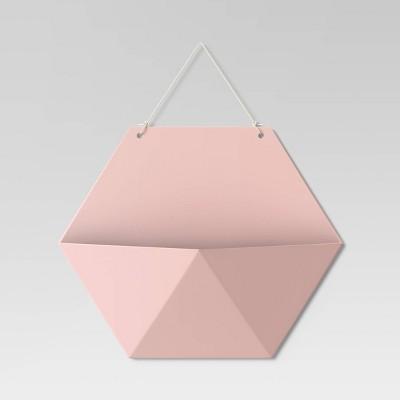 Hexagon Wall Pocket Shelf Blush Peach - Room Essentials™
