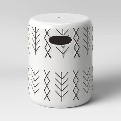 Ceramic Global Arrows Patio Accent Table - Opalhouse™