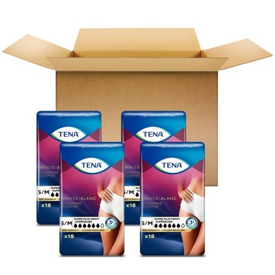 TENA Incontinence Underwear for Women - Super Plus Absorbency - S/M - 72ct
