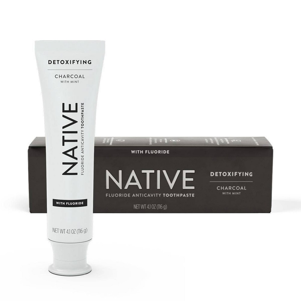 Image of Native Charcoal with Mint Fluoride Toothpaste - 4.1 oz