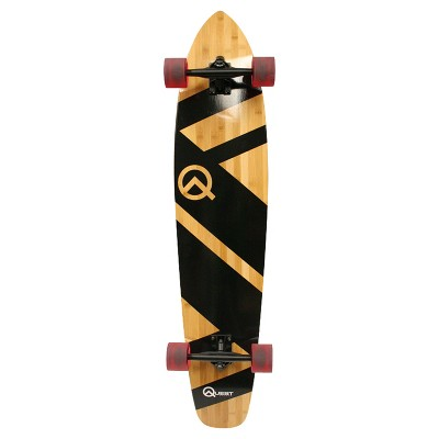 "Quest Super Cruiser 44"" Longboard Skateboard - Black/Wood"