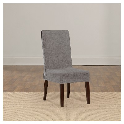 mason short dining room chair slipcover gray sure target rh target com Sure Fit Chair Covers Dining Room Long Dining Chair Slipcovers