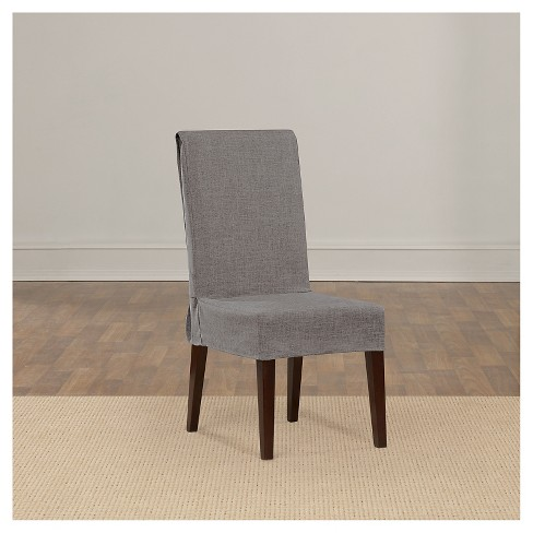 Dining Room Chair Loose Covers mason short dining room chair slipcover gray - sure fit : target