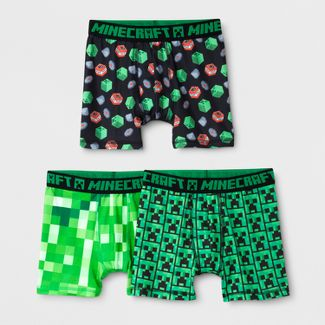 Boys' Minecraft 3pk Boxer Briefs - 6