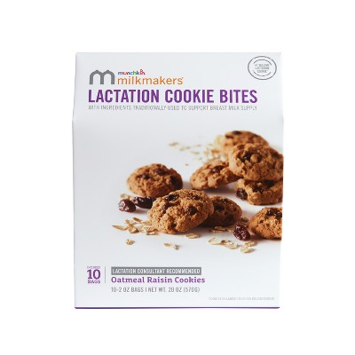 Milkmakers Oatmeal Raisin Lactation Cookie - 10ct