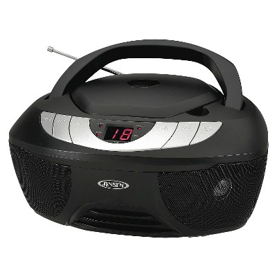 Jensen CD AM/FM Radio Boombox with LED display - Black (CD-475)