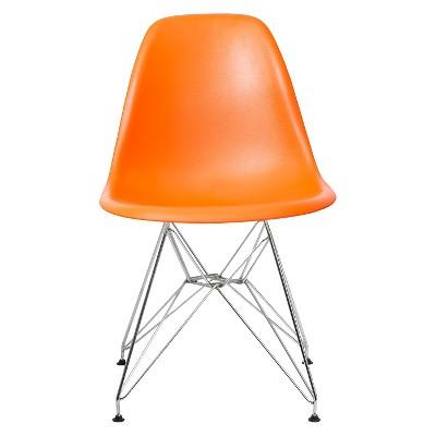 Set of 2 Paris Molded Plastic Chair Orange - AEON