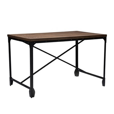 Grayson Vintage Industrial Home Office Wood Desk Brown - Baxton Studio
