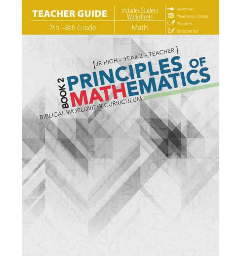 Principles of Mathematics Book 2 7th - 8th Grade (Student / Workbook) (Paperback) (Katherine Loop) - image 1 of 1