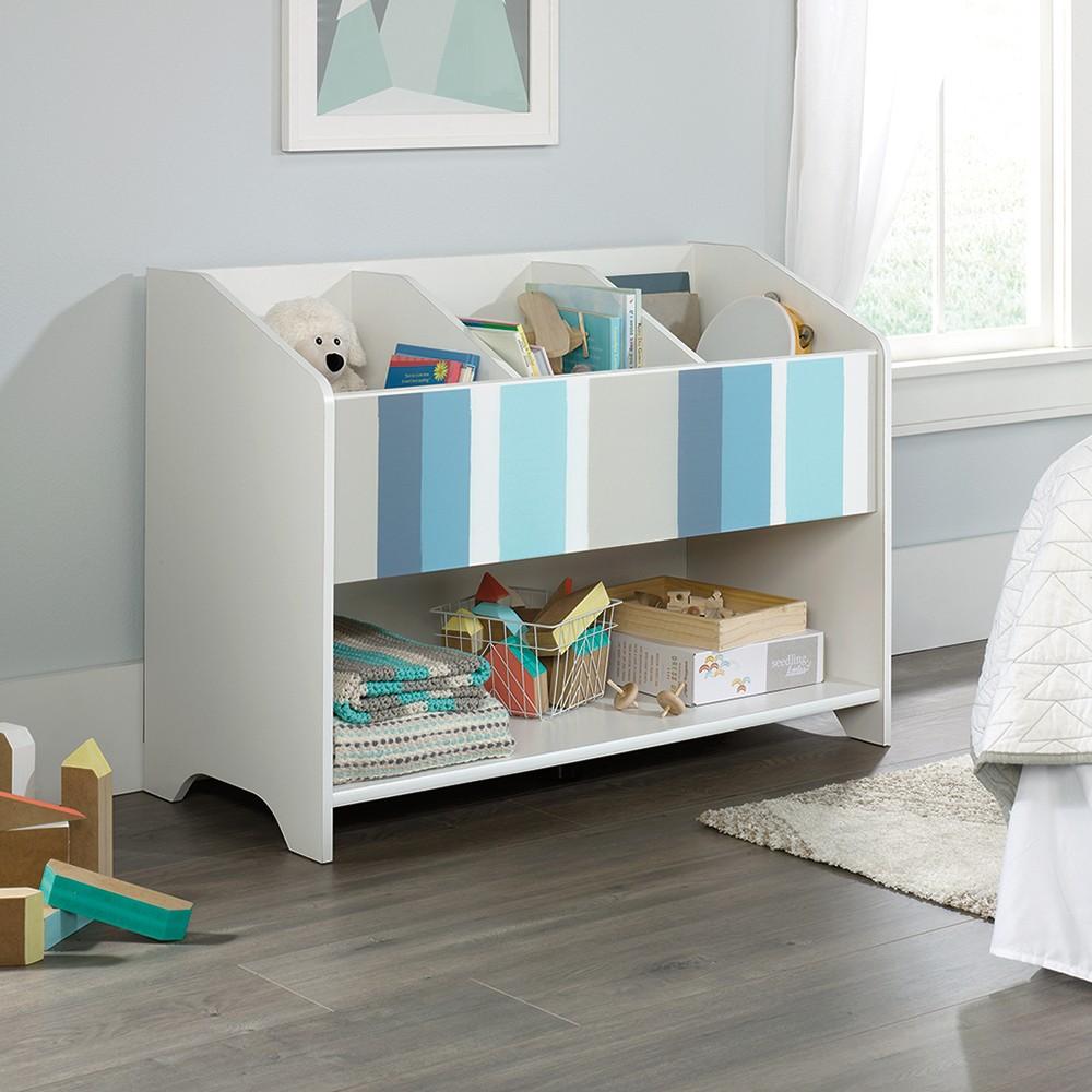 Image of Pinwheel Bookcase (Footboard) Soft White Finish - Sauder