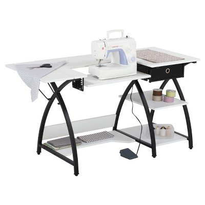 Comet Sewing Desk - Black / White - Sew Ready