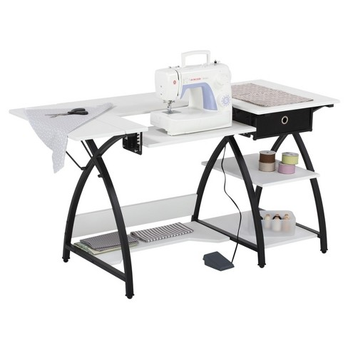 Comet Sewing Desk - Black / White - Sew Ready - image 1 of 6
