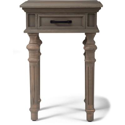 Cassatt 1 Drawer Side Table Gray - Finch