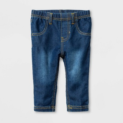 Baby Girls' Jeans Medium Wash - Cat & Jack™ Blue 6-9M