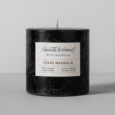 Pillar Candle (3 x3 )- Cedar Magnolia - Hearth & Hand™ with Magnolia