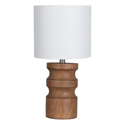 Faux Wood Turned Table Lamp Brown (Lamp Only)- Project 62™