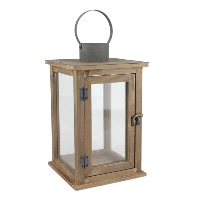 Stonebriar Rustic Wooden Candle Holder Lantern - CKK Home Decor
