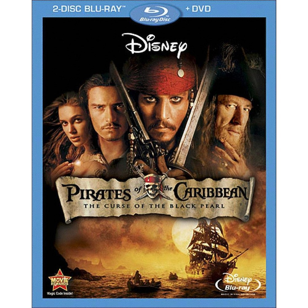 Pirates Of The Caribbean The Curse Of Black Pearl Blu Ray Dvd