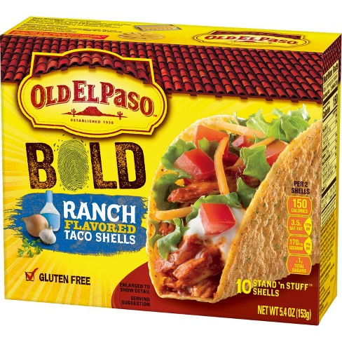 Old El Paso® Bold Stand 'N Stuff Taco Shells Ranch Flavored 10 ct - image 1 of 3