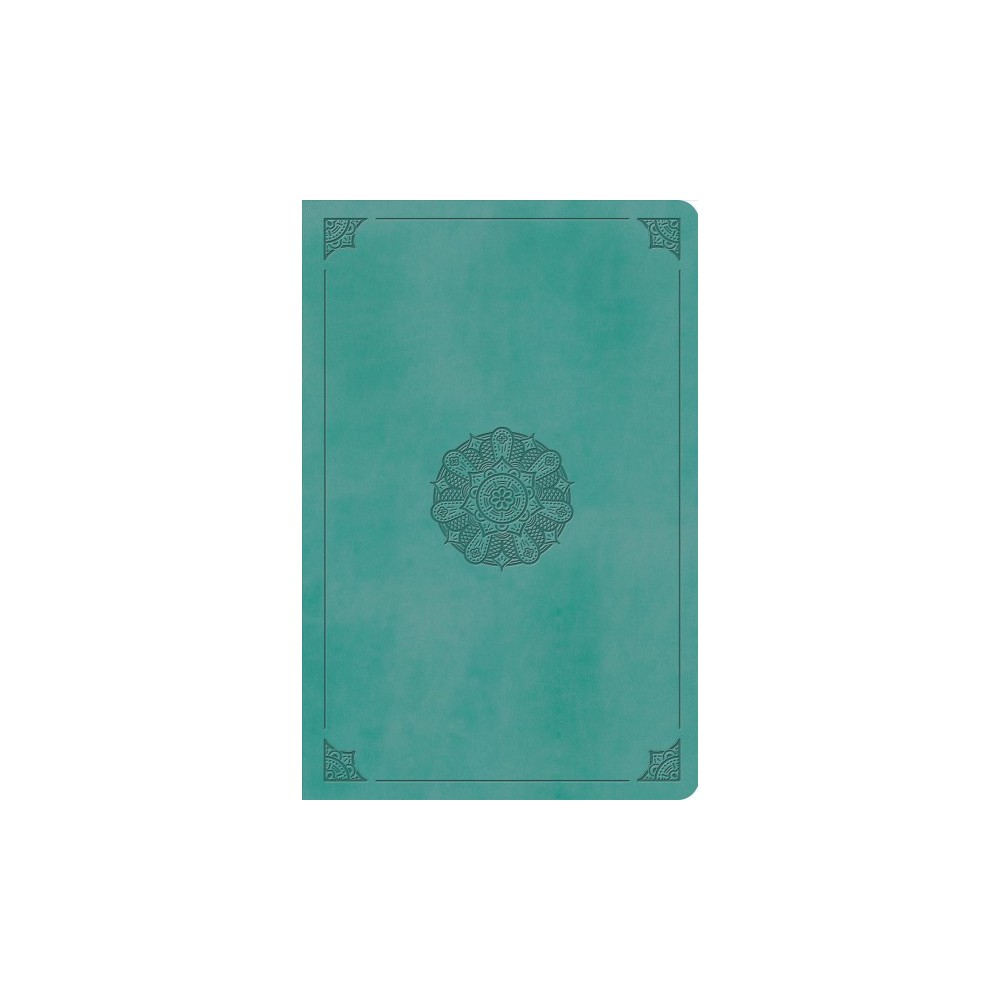 Holy Bible : English Standard Version, Value Compact Bible, Trutone, Turquoise, Emblem Design