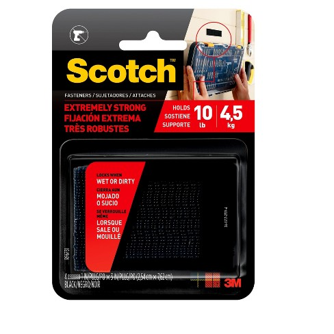 Scotch® Extreme Fasteners, Black, 1 in x 3 in - image 1 of 10