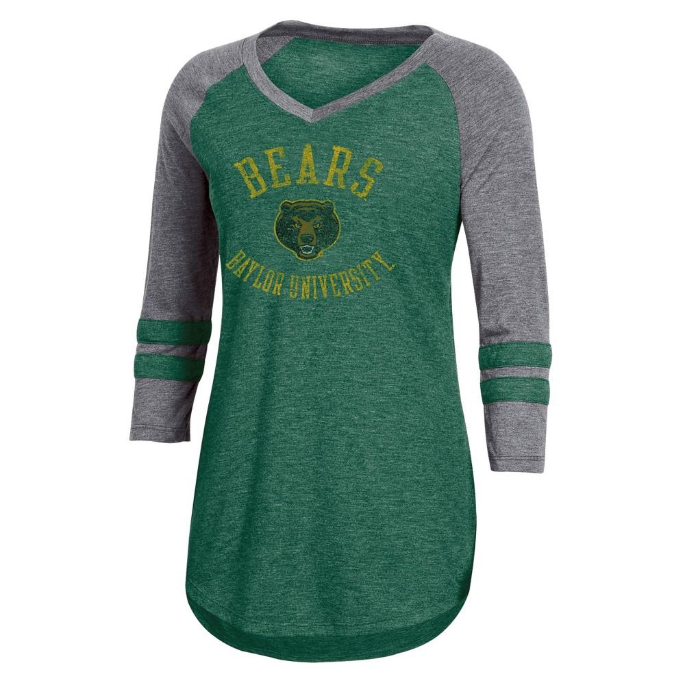 NCAA Women's 3/4 Sleeve V-Neck T-Shirt Baylor Bears - S, Multicolored