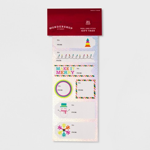 21ct Peel & Stick Gift Tag Set - Wondershop™ - image 1 of 1