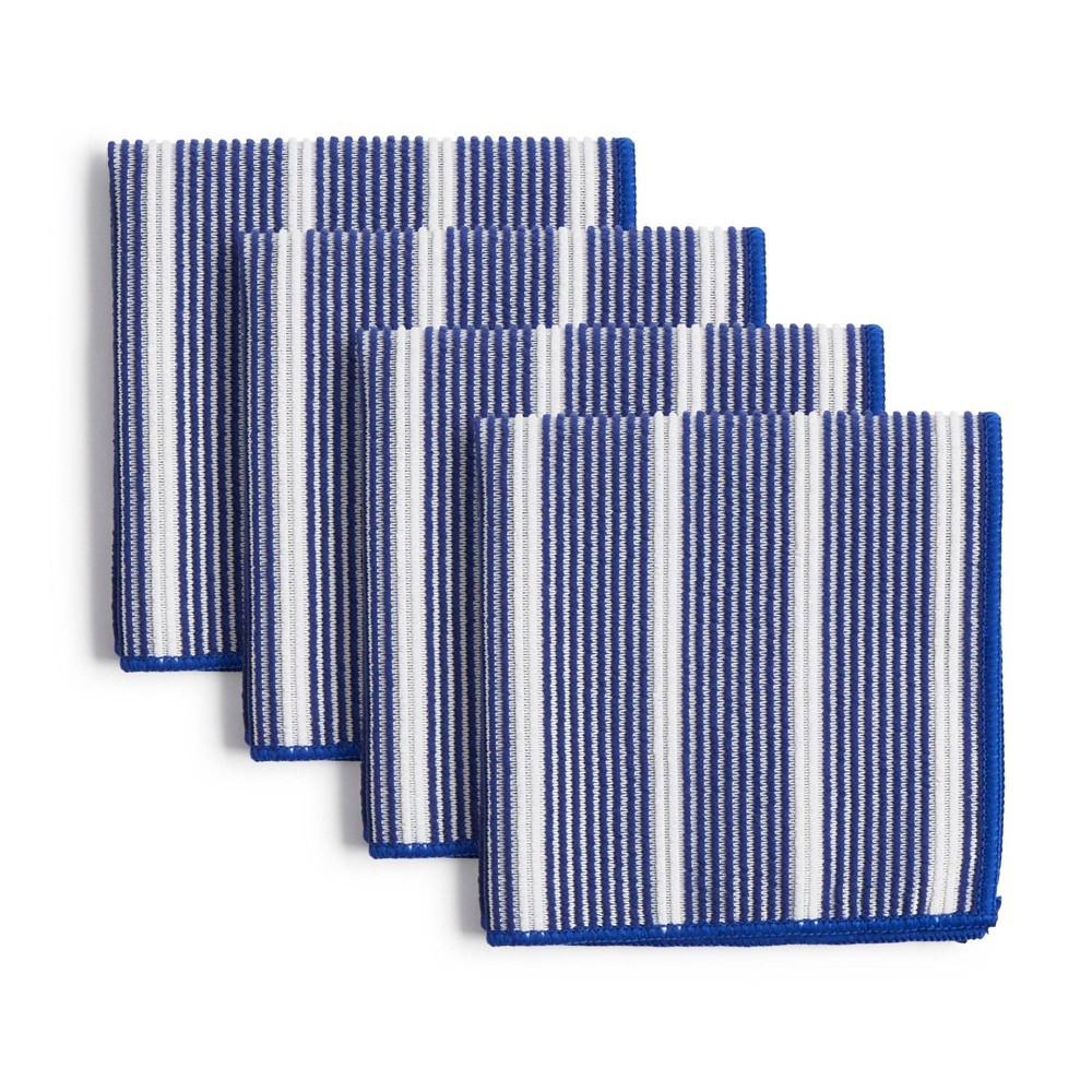 """Image of """"8pk 12""""""""X12"""""""" Rainbow Stripe Dish Cloths Blue - Town & Country Living"""""""
