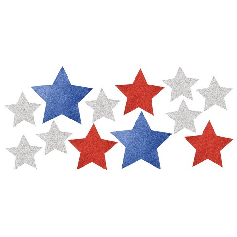 12ct Patriotic Cutouts With Glitter - image 1 of 4